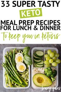 One of the easiest ways to stay on track with your health and fitness goals is through meal prep. These keto meal prep recipes are perfect for lunch and dinner and are sure to satisfy your taste buds, while ensuring you don't overeat and gain weight. Lunch Recipes, Diet Recipes, Healthy Recipes, Healthy Meals, Healthy Food, Roast Recipes, Healthy Weight, Cooking Recipes, Keto Meal Plan