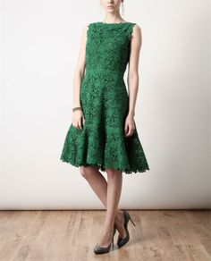 VALENTINO Macrame Lace And Silk Dress. Absolutely stunning!