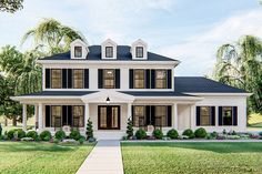 Plan Refreshing 3 Bed Southern Colonial House Plan Structures is usually a High-priced Section! Colonial House Exteriors, Colonial Exterior, Colonial House Plans, Modern Colonial, Southern House Plans, Dream House Exterior, Southern Homes, House Ideas Exterior, Southern Charm