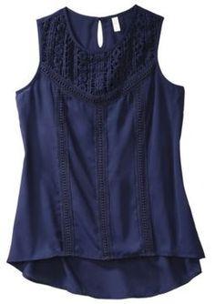 Xhilaration® Juniors Crochet Sleeveless Top - Assorted Colors on shopstyle.com