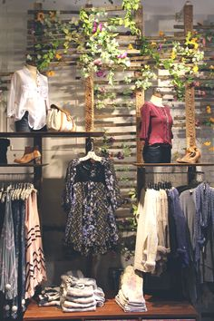 Decor Inspiration: Spring 2014 Store Displays. Awesome use of flowers for the spring and great layout.
