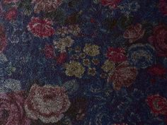 Tissu Molleton Reversible Uni Gris / Imprimé Fleurs