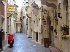 Village narrow street in GoZo, Malta
