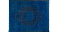Blauer Teppich by KISKAN PROCESS (Orientteppich), Orientteppich, gefärbter Teppich, Wohnzimmer, vintage, orient, muster, Wohneinrichtung, Vintage Teppich, rug, carpet, blau