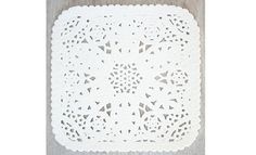 Square paper doily 10 pack $4.50 to go on wedding invites