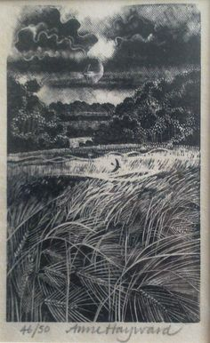 Original wood engraving by Anne Hayward by Etchings Plus - playing on new smart phone!, via Flickr