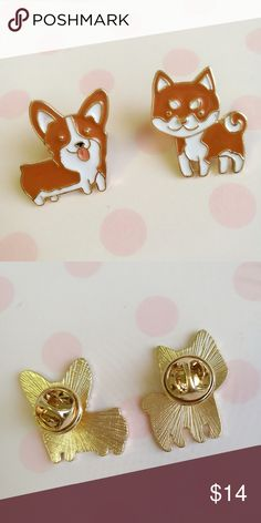 "🆕🐶Set of Corgi Shiba Inu Lapel Pins ~Cute Kawaii 🆕Set of 2 unique and high quality gold pins featuring a super cute Corgi and Shiba Inu. Display your love for corgis and shibas with these cute lapel pins. Perfect for dog lovers! 🐶 ❤️Imported from Japan. Each pin is 1""x1"". Tagged for exposure. ❤️Feel free to make an offer or ask questions. 😊 🍓 You can bundle for 10% off!   Keywords: Lapel, pin, brooch, school, accessories, Japan, Japanese, kawaii, cute, stationery, Sanrio, San-x, anime…"