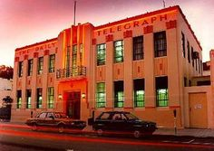 Napier New Zealand The Daily Telegraph. one of Napiers world famous Art Deco buildings, rebuilt in celebration after the 1931 earthquake.