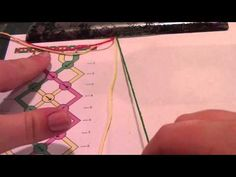 ▶ How to make friendship bracelets: reading friendship bracelet patterns - YouTube