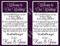 Wedding Gift Bag Letter : ... bags on Pinterest Welcome bags, Welcome letters and Wedding gift
