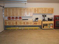 organized 3 car garage