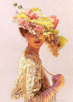 Victorian Elegant Lady fashion art romantic by HalstenbergStudio, $29.00