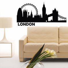 London 2012 Skyline Wall Decal Art Sticker lounge living room bedroom