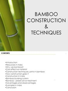 Various methods of bamboo construction prevalent in India. Bamboo House, Bamboo Wall, Bamboo Garden Fences, Bamboo Building, Bamboo Structure, Bamboo Construction, Joinery Details, Bamboo Architecture, Vintage House Plans