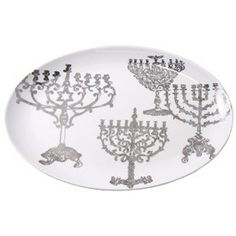 The Jewish Museum Lights of Hanukkah Platter Product - The Jewish Museum Shops
