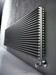 Wall-mounted carbon steel decorative radiator TRIM - ANTRAX IT radiators &… Wall Radiators, Best Radiators, Decorative Radiators, Kitchen Radiator, Modern Radiator Cover, Warm Bathroom, Bathroom Fireplace, Radiator Heater, Designer Radiator