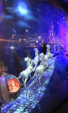 Harrods Window Displays - fairy tales - cinderella's coach
