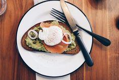 The Perfect Poached Egg Avocado Egg, Avocado Toast, Poched Eggs, Perfect Poached Eggs, Breakfast, Food, Egg Benedict, Brunch Ideas, Egg