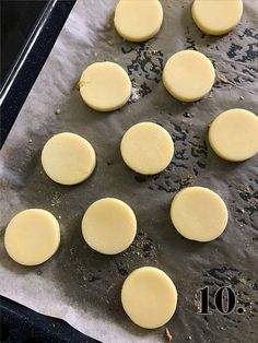 Proste ciasteczka jak makaroniki - Orchideli Domowy Cukiernik Griddle Pan, Nutella, Hamburger, Dessert Recipes, Cooking Recipes, Tasty, Bread, Cookies, Baking