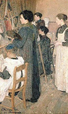 Emanuel Phillips Fox - Art Students 1895
