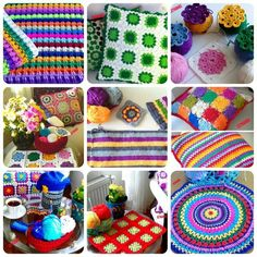 Colorful #crochet for the home from ceyhan65