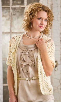 Spider Lace Jacket by Brenda Bourg ~ Gorgeous! This is in the Spring 2012 issue of Crochet! Crochet Jacket, Crochet Cardigan, Crochet Sweaters, Lace Cardigan, Lace Jacket, Crochet For Kids, Knit Crochet, Crochet Stitches, Crochet Baby