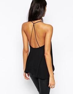 ASOS   ASOS Backless Cami Top with Plunge Neck at ASOS