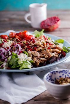 Leftover roast chicken is perfect used in this aromatic Moroccan chicken salad…