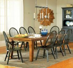 Perfect for my large family!!  9-pc Sommerset Rectangular Leg Dining Table Set