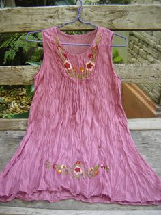Bohemian embroidered top in a violet blush color ~ fantasyclothes @ etsy