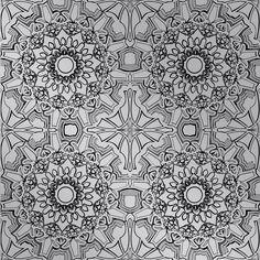 Medallion Self Adhesive Wallpaper in Platinum design by Tempaper