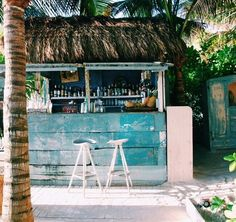 Vacationing in Mexico? Hit up Tulum beach bar for the ultimate chill beach vibes this summer! Tulum Mexico, Pool Bar, Temple Maya, Beach Shack, Surf Shack, Beach Bars, Tropical Vibes, Island Life, Paradise Island