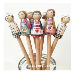 Peg Doll Spoon Topper - the perfect gift for Great British Bake Off fans!!