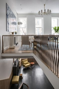 Learn more about the firm Michael K Chen Architecture based in New York, NY Staircase Railing Design, Balcony Railing Design, Interior Staircase, California Room, Pole Barn House Plans, Two Storey House, Modern Stairs, Metal Building Homes, Architecture Design