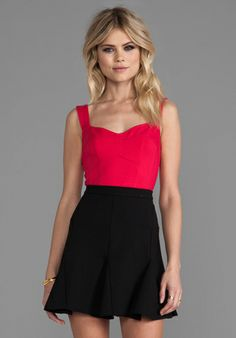 Nanette Lepore Billboard Bustier in Raspberry