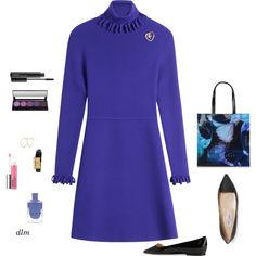 Black by dmiddleton on Polyvore featuring Victoria, Victoria Beckham, Jimmy Choo, Ted Baker, Tiffany & Co., MAC Cosmetics and Clinique