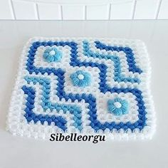 Fiber Models New - Sibel Knitting Fiber Models - Bathroom decor ideas Crochet Kitchen, Crochet Squares, Baby Sweaters, Crochet Flowers, Special Gifts, Hand Embroidery, Diy And Crafts, Crochet Patterns, Weaving