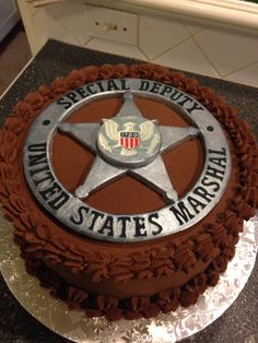 US MARSHAL BADGE Us Marshals, Creative Outlet, Grad Parties, Cake Decorating, Projects To Try, Give It To Me, Baking, Law Enforcement, Badges