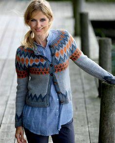 Strik selv: Nordisk trøje - Hendes Verden Fair Isle Knitting, Hand Knitting, Knitting Patterns, Crochet Cardigan, Knit Crochet, Motif Fair Isle, Big Knit Blanket, Nordic Sweater, Icelandic Sweaters