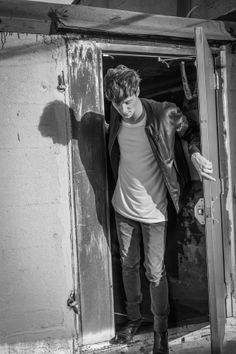 BLK DNM. A Portrait Of Matt Hitt, Photographed By Johan In Brooklyn New York.  Leather Jacket 45, T Shirt 3 And Jeans 25.