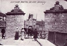Portal de San Nicolás,entrada sur a Pamplona. Primera puerta del portal,al fondo la segunda.