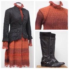 Jean Paul Gaultier dress, Rachel Mara jacket, Apepazza boots