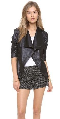 Leather & shorts for fall