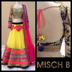 Colour carousel lehenga by MischB couture