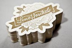 #letterpress #design business cards/tags