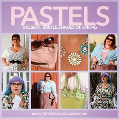The Soft Pastels of Spring  #plussizebloggers #plussize