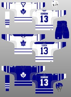 Toronto Maple Leafs - The (unofficial) NHL Uniform Database Nhl Jerseys, Toronto Maple Leafs, Team Photos, Hockey, The Past, Sports Teams, Clay, Logo, Google Search