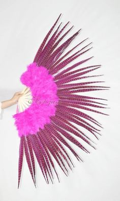 "White Double Layer Ostrich feather fan Belly Dancing Burlesque Dancing  29/""x53/"""