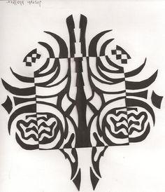 Notan design by student @ LPHS Utah  Myra Dalton (teacher)