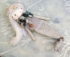#dolls # Little Mermaid Girl Doll/ Mermaid Tail / OOAK by thedollsunique